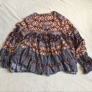 Anama - Boho Chic Button Up Back - Size SP Women's